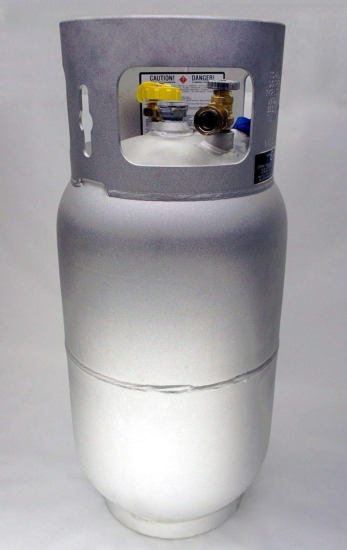 Worthington 297297 33-Pound Aluminum Forklift Propane Cylinder with Gauge and Fill Valve