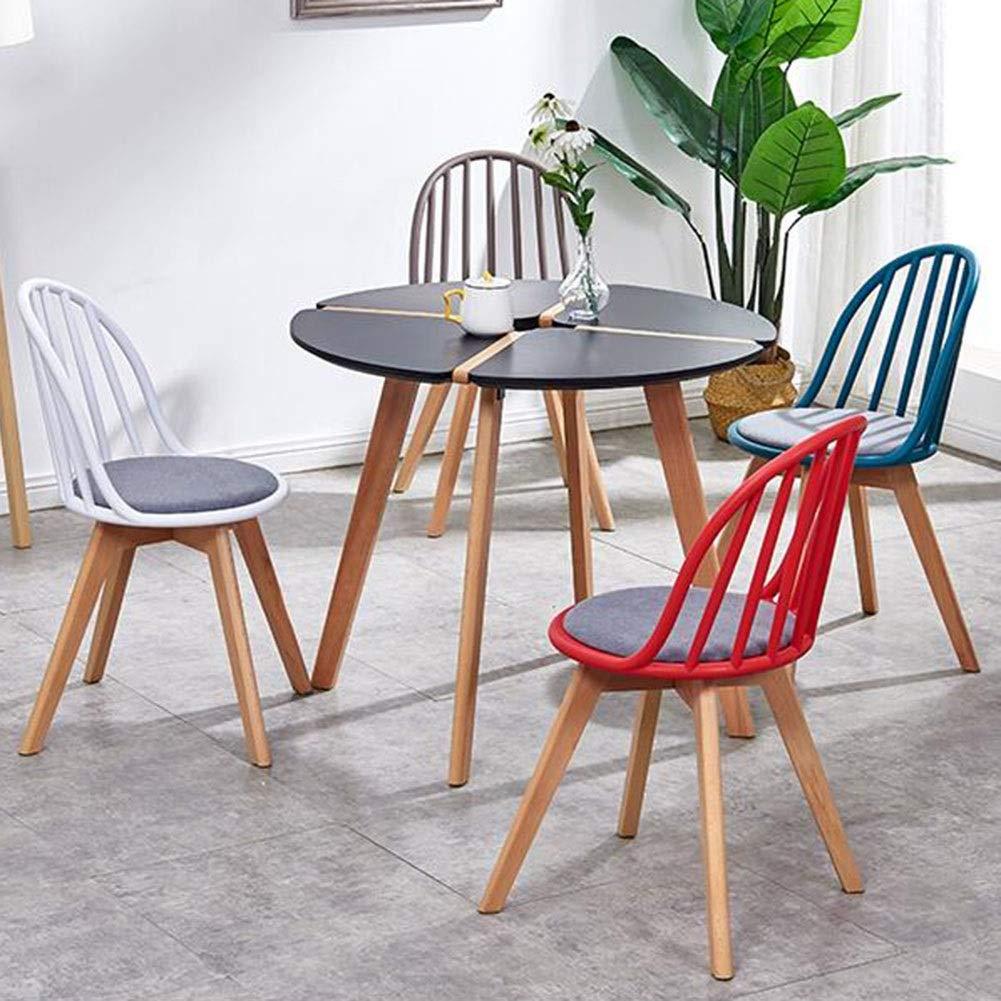 JIEER-C Fritidsstolar plast matstol modern ryggstöd stol träben kontor kök vardagsrum sovrum restaurang café lätt att montera hållbar stark vit