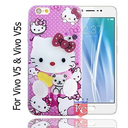 fd4e3a5885 KC Mirror Kitten Baby Bear Girl Case with Diamonds: Amazon.in: Electronics