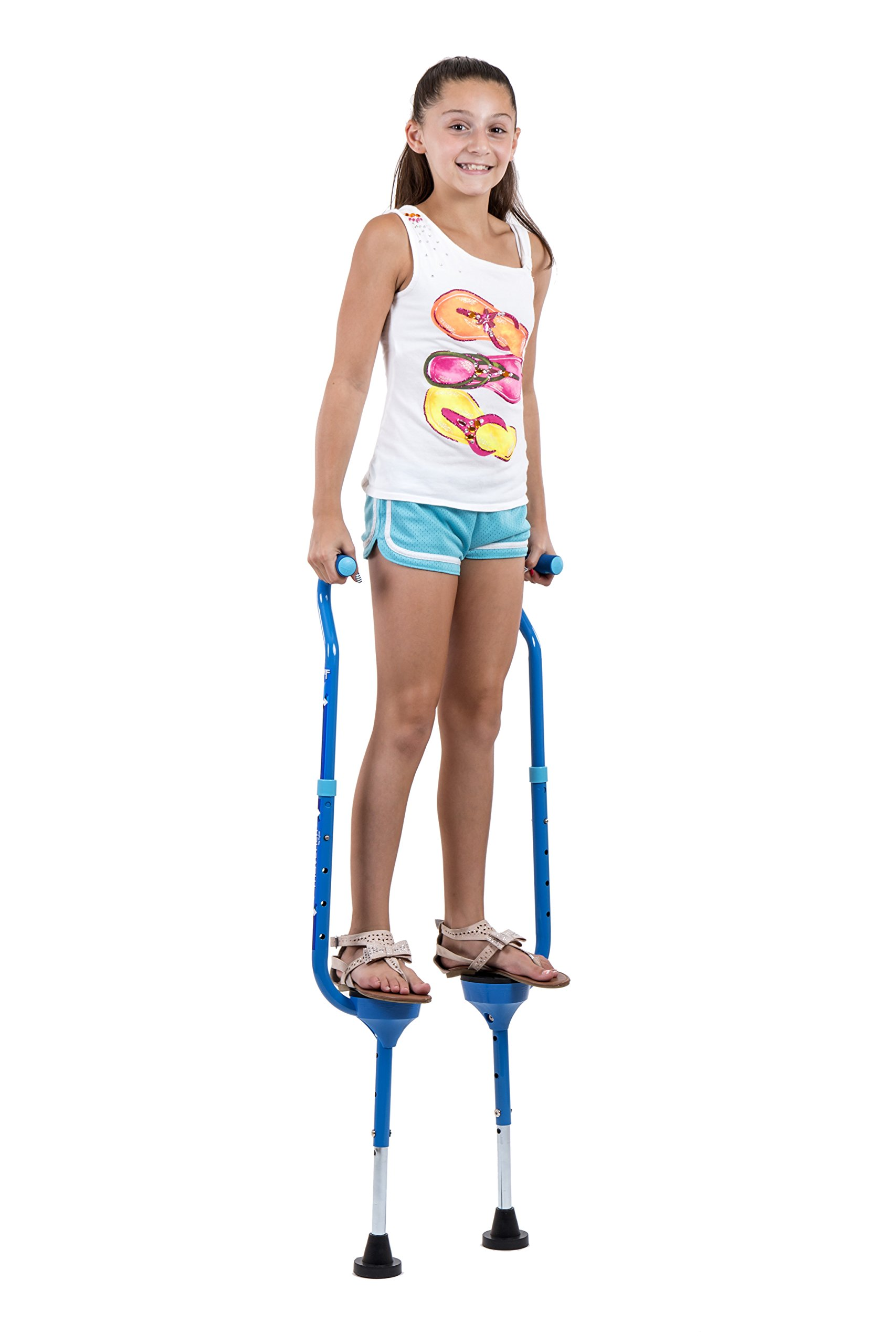 Flybar Maverick Walking Stilts for Kids Ages 5 +, Weights Up to 190 Lbs - Adjustable Foam Handles with Wide Stance Foot Pegs - Fun Outdoor Toys for Girls & Boys by Flybar (Image #7)