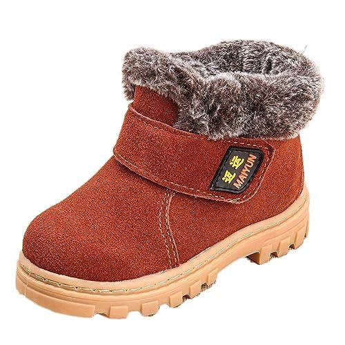 Botas De Invierno Niño Niña Botas De Nieve Caliente Botines Antideslizante Martin Zapatos: Amazon.es: Zapatos y complementos