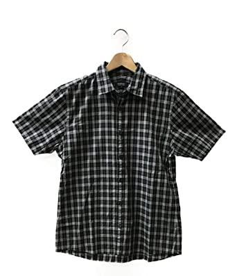 cdad0278a4e87a Amazon | 美品 バーバリーブラックレーベル SIZE 3 (L) 半袖シャツ BURBERRY BLACK LABEL メンズ 【中古】 | シャツ  通販