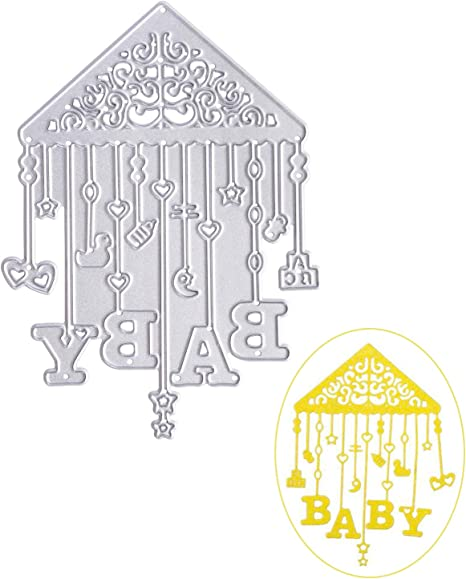 Amazon Com Ootsr Wind Chimes Shape Cutting Dies Metal Die Cuts Stencil For Scrapbooking Banner Decor Home Decor Diy Craft Gift