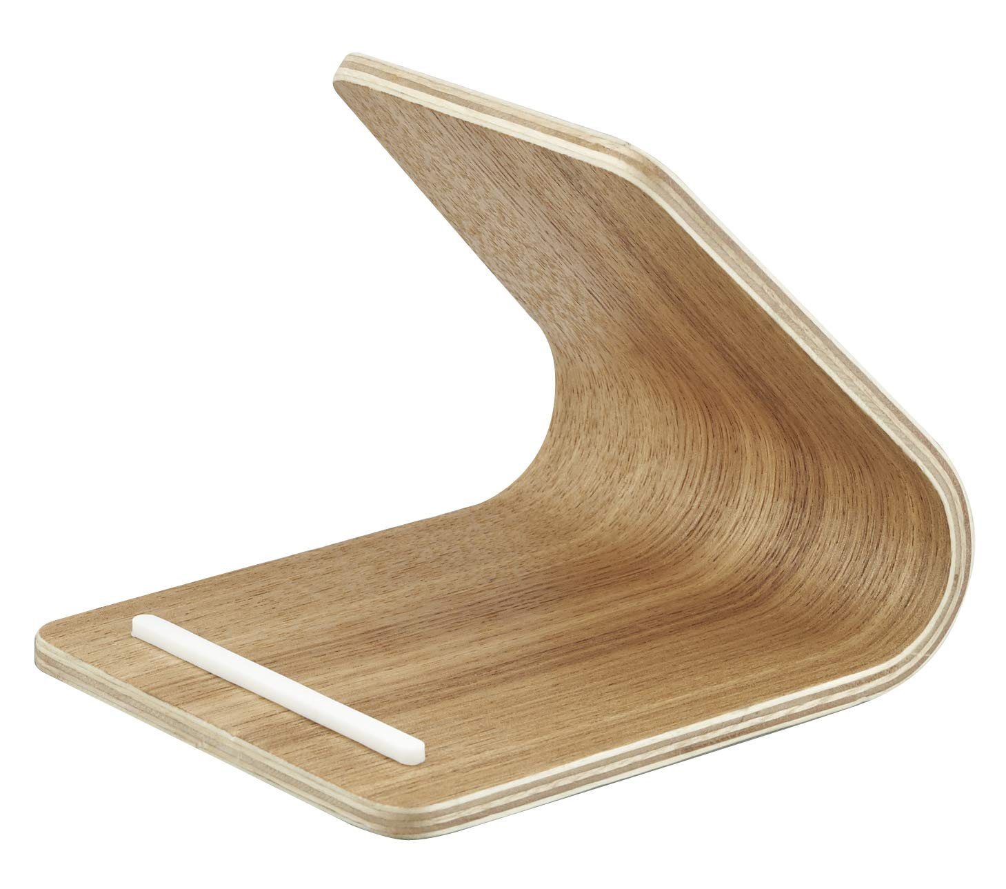 YAMAZAKI home 7327 Rin Plywood Tablet Stand, Beige, Natural