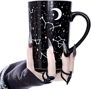 Tall Coffee Mug (Voyager) by Rogue + Wolf Witch Goth Accessories Unique Astronomy Gifts for Women Cute Christmas Mugs Hocus Pocus Gothic Home Decor Witchcraft Supplies - 12.8 oz / 380ml Porcelain