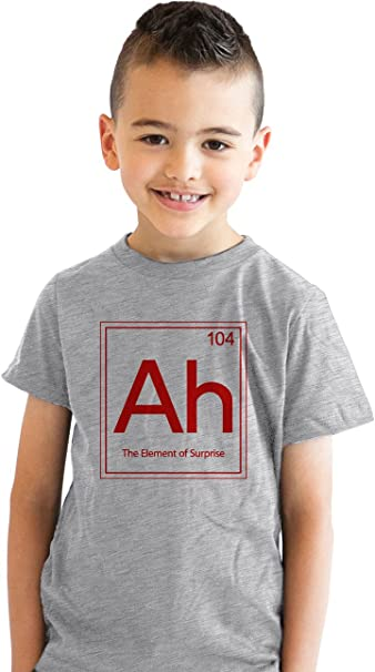Crazy Dog Tshirts - Youth Element of Surprise (Ah) T Shirt Cool Science Periodic