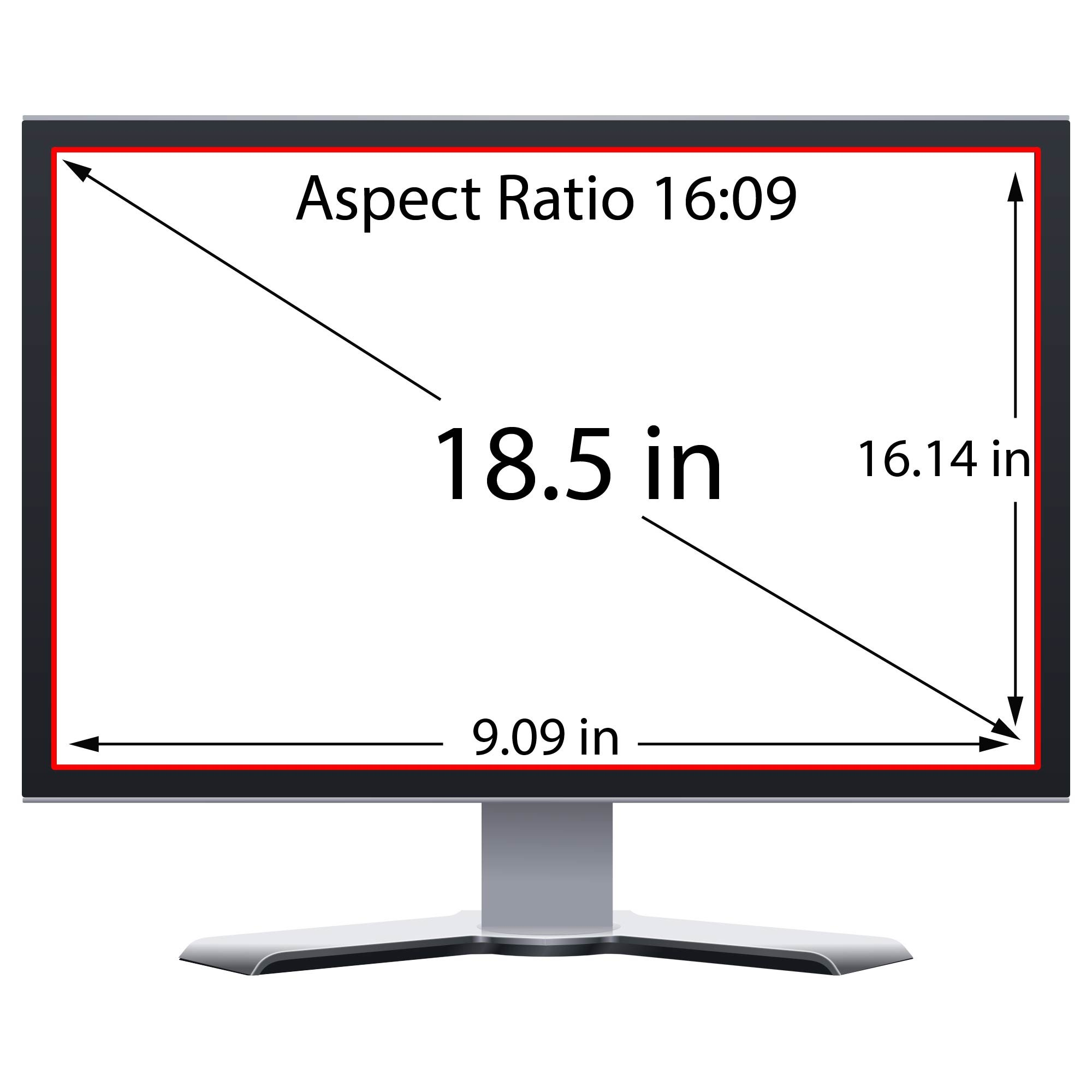 Privacy Screen Filter and Anti Glare for 18.5 Inches Computer Monitor with Aspect Ratio 16:09 Please check Dimension Carefully