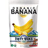 Happy Andes Organic Banana Powder 1lb - Fresh Pure Raw Powdered Fruit for Cooking & Baking, sweet taste, 16 Ounce