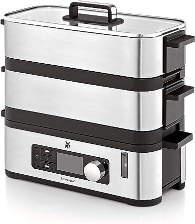 WMF KÜCHENminis Dampfgarer, 2 individuell regulierbare Garräume mit je 2,15 l, Warmhaltefunktion und Aromaverstärker, 900W