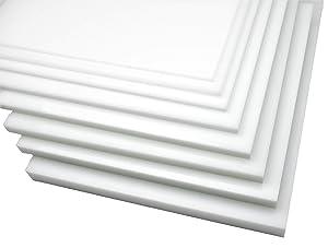 Natural Simona HDPE Plastic Sheet 1/2