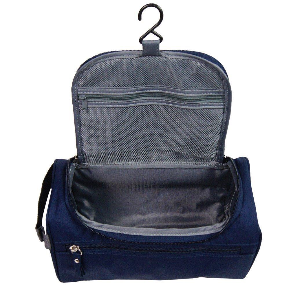 Neceser ONEGenug Impermeable Bolsa De Aseo Bolsa De Viaje Bolsa de cosmético Maquillaje Organizador con Gancho Consistente Para Hombres/Mujeres/Niños (azul oscuro) Wash Bag