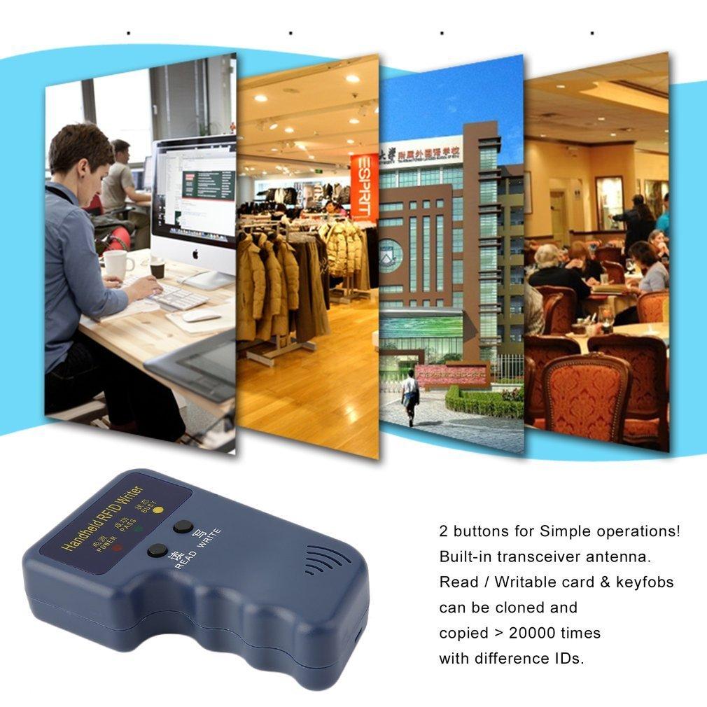 Balises et Cartes enregistrables du copieur 3 DE Carte d'identité de RFID 125KHz T5577 EM4305 Tenu dans la Main (Couleur: Bleu) FairytaleMM