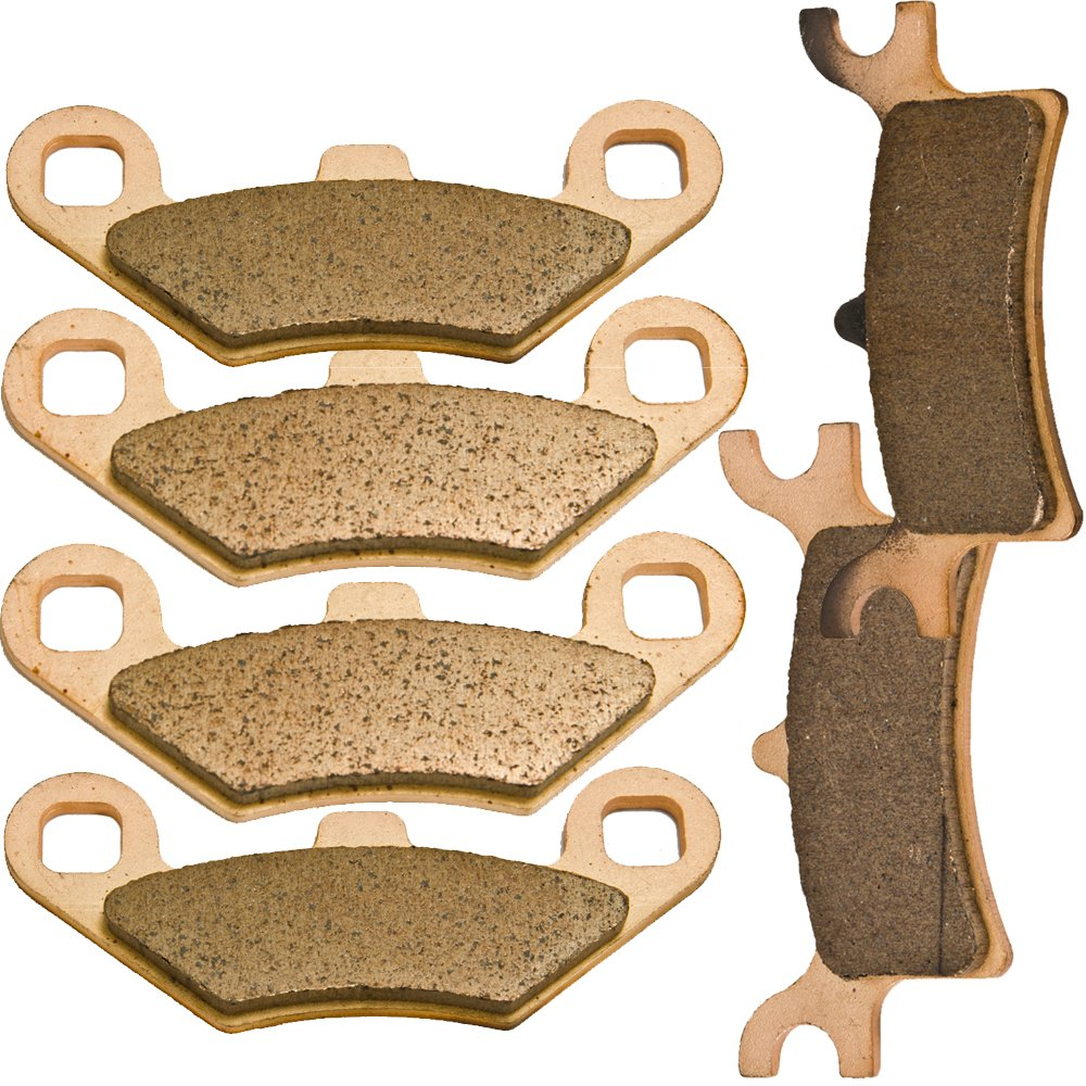 Foreverun Motor Front and Rear Sintered Brake Pads for Polaris 500 Sportsman Ho EFI 2003-2008