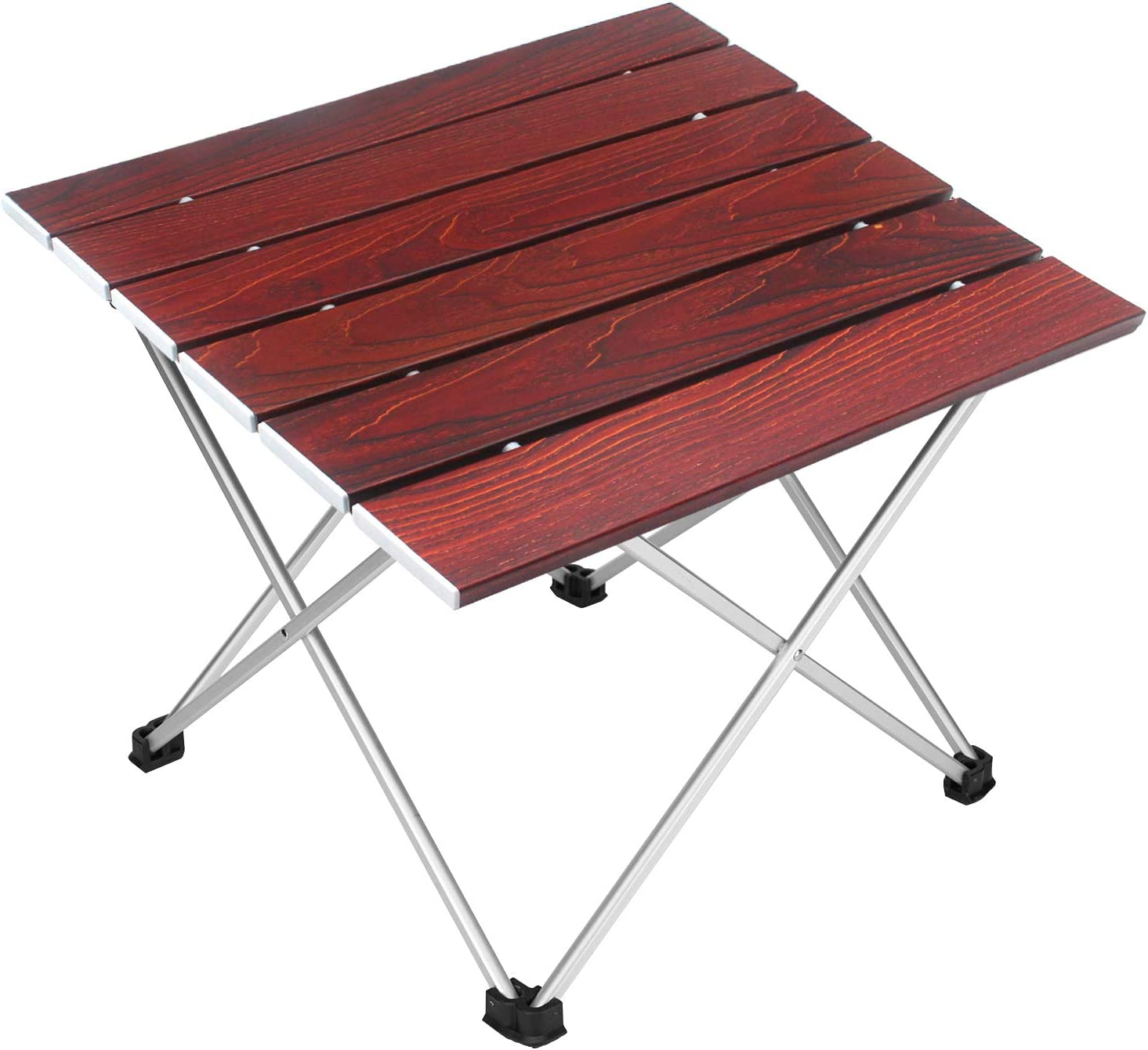 Beach BBQ Ultralight Aluminum Picnic Table Portable Roll Up Table with Storage Bag for Outdoor Camping Fishing Picnic H.yeed Folding Camping Table Small//Medium//Large