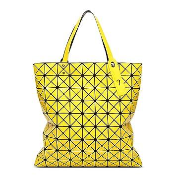 YUEER Geometrische Tasche Damen Portable Big Bag Nähen Falten Große ...