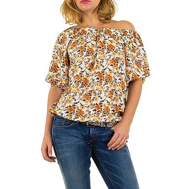 5f9585b5cb52 Schuhcity24 Damen Bluse Elegante Tunika Business Hemd Sommerliches Oberteil Gemustertes  Hemd  Amazon.de  Bekleidung