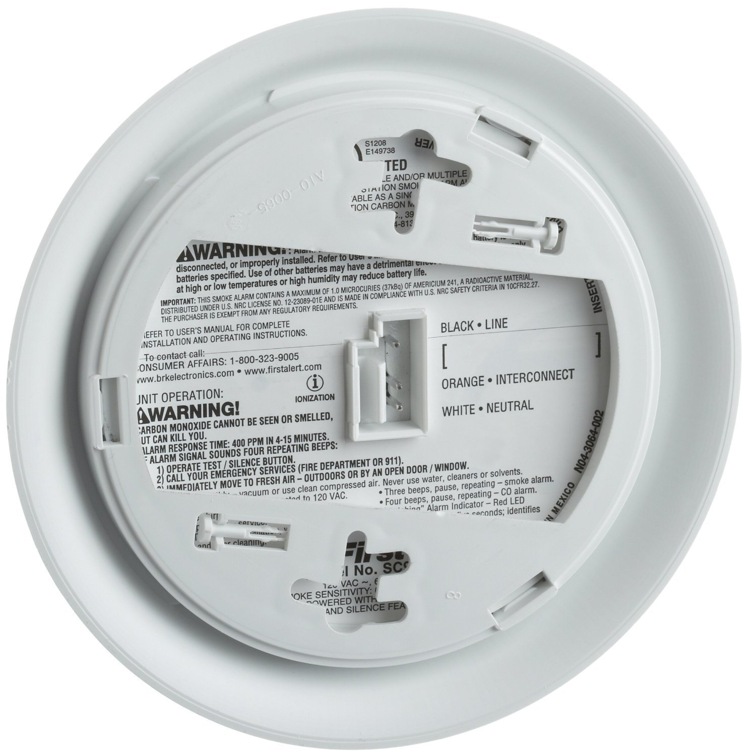 BRK SC9120B Smoke and Carbon Monoxide Alarms and Detectors Lot of 10 by BRK Brands (Image #2)