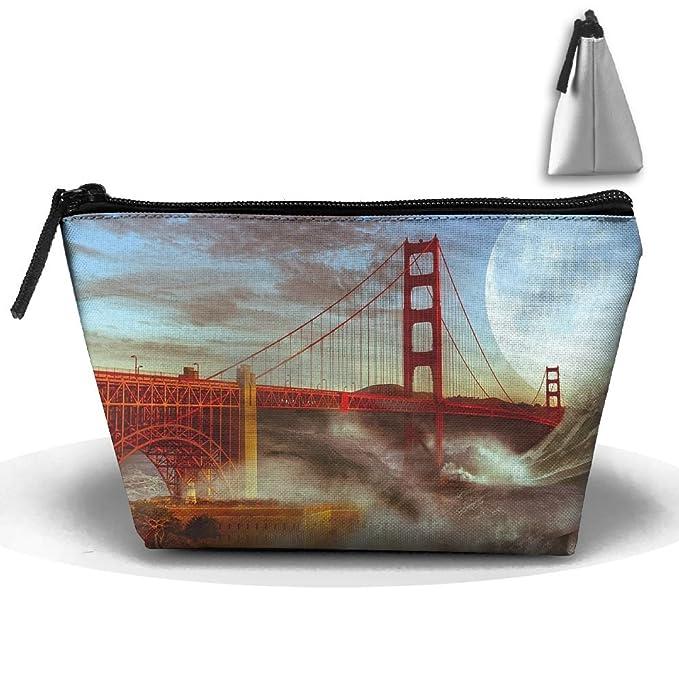 467c964fa679 Amazon.com: Portable Travel Storage Pouch Cool Bridge Art ...
