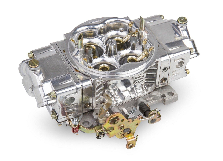 Holley 0-82751SA Street HP Carburetor 4 bbl 750 cfm Model 4150 HP Mech Secondary No Choke Gas Double Accelerator Pump Shiny Finish Street HP Carburetor
