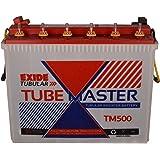 Exide Tube Master Tubular Battery TM500 (White & Red)