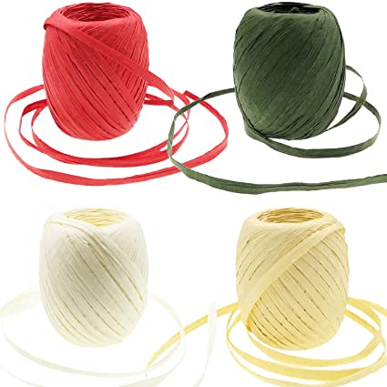 Amazon com: Mayam 350 Yard Raffia Twine Raffia Paper Ribbon String