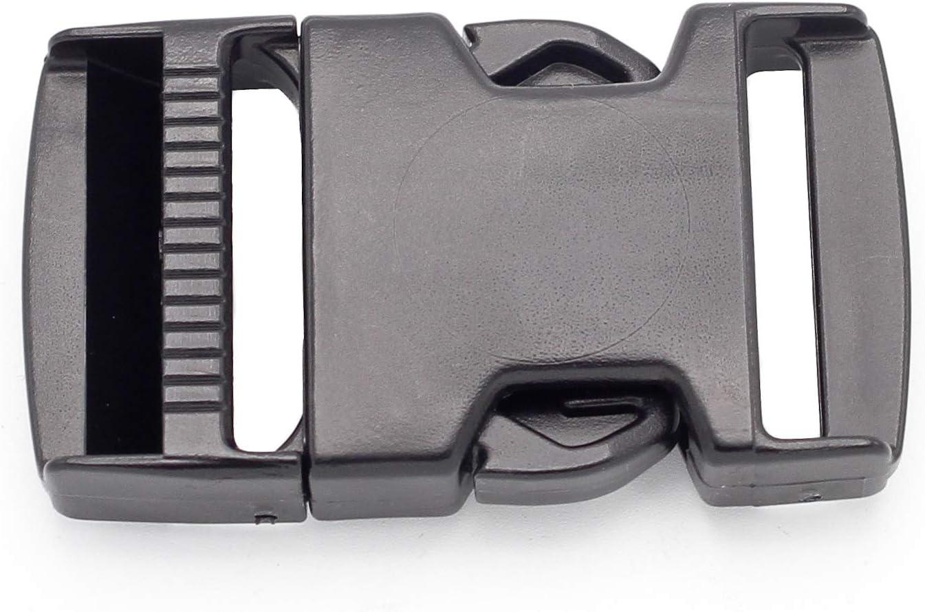 "50 x 1/"" Fastex Side Release Plastic Buckle Black For 25mm 1/"" Molle Webbing"