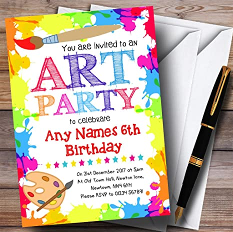 Amazon Com Crafts Art Painting Party Childrens Birthday Party
