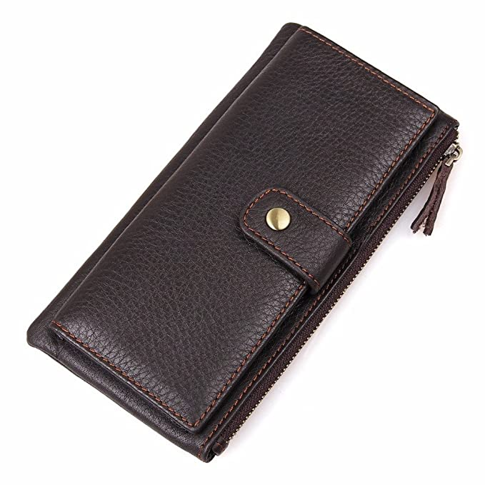 5d6a88af57b8 Amazon.com: Clean Vintage Men's Long Wallet Card Case Retro Clutch ...
