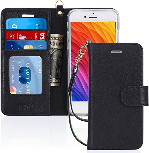 Cover for Leather Cell Phone Cover Kickstand Luxury Business Card Holders Flip Cover iPhone 8 Flip Case