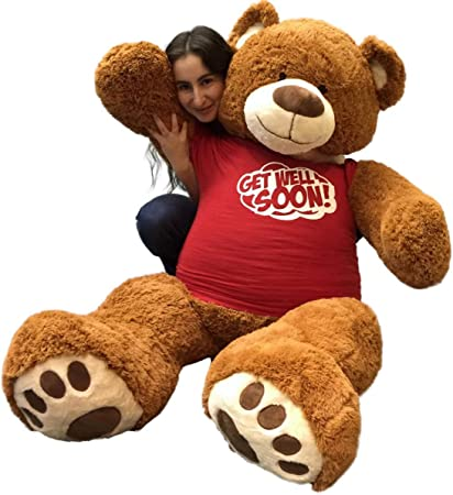 "cucunu Teddy Bear Large Brown 4.6 ft Giant Stuffed Bears Huge Plush Animal 55 /"" Inch Toy"