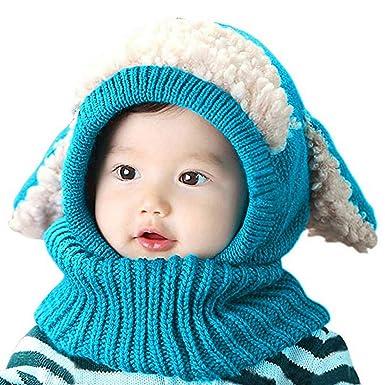 AUVSTAR Garçon d enfant Chapeau d hiver Écharpe pour Bébé Filles Set Cutest  Earflap fcb80915a16
