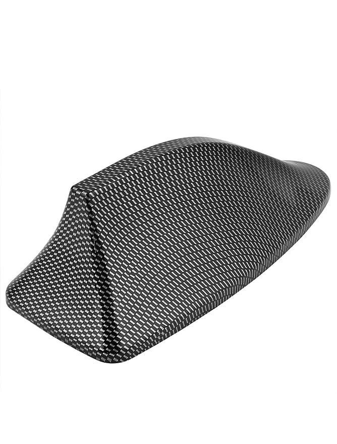 Sourcingmap Tono de Fibra de Carbono Aleta Forma Diseño Antena de Techo Adhesiva: Amazon.es: Coche y moto