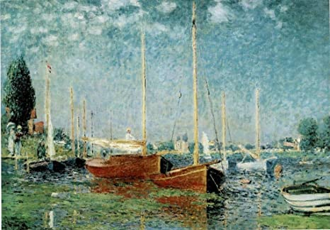 Amazon Com Claude Monet Argenteuil 1875 Impressionist Oil On Canvas Landscape Painting Cool Wall Decor Art Print Poster 36x24 Posters Prints