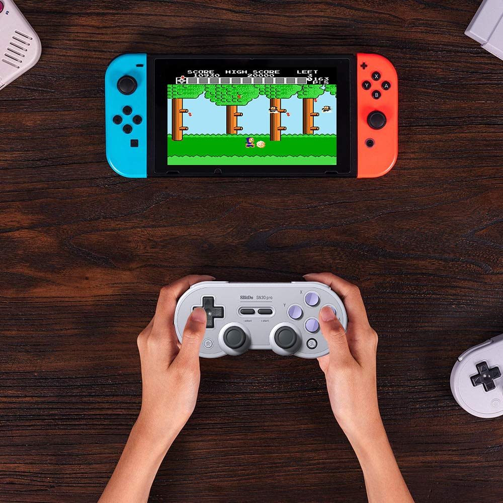 8Bitdo SN30 Pro Wireless Bluetooth Controller with Joysticks Rumble Vibration USB-C Cable Gamepad for Windows, Mac OS, Android, Steam, etc, Compatible with Nintendo Switch by RunSnail (Image #7)
