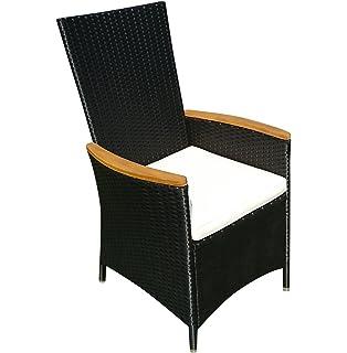 Perfekt SAM® Polyrattan Gartenstuhl, Stuhl In Anthrazit Mit FSC® 100%  Zertifizierten Armlehnen Aus