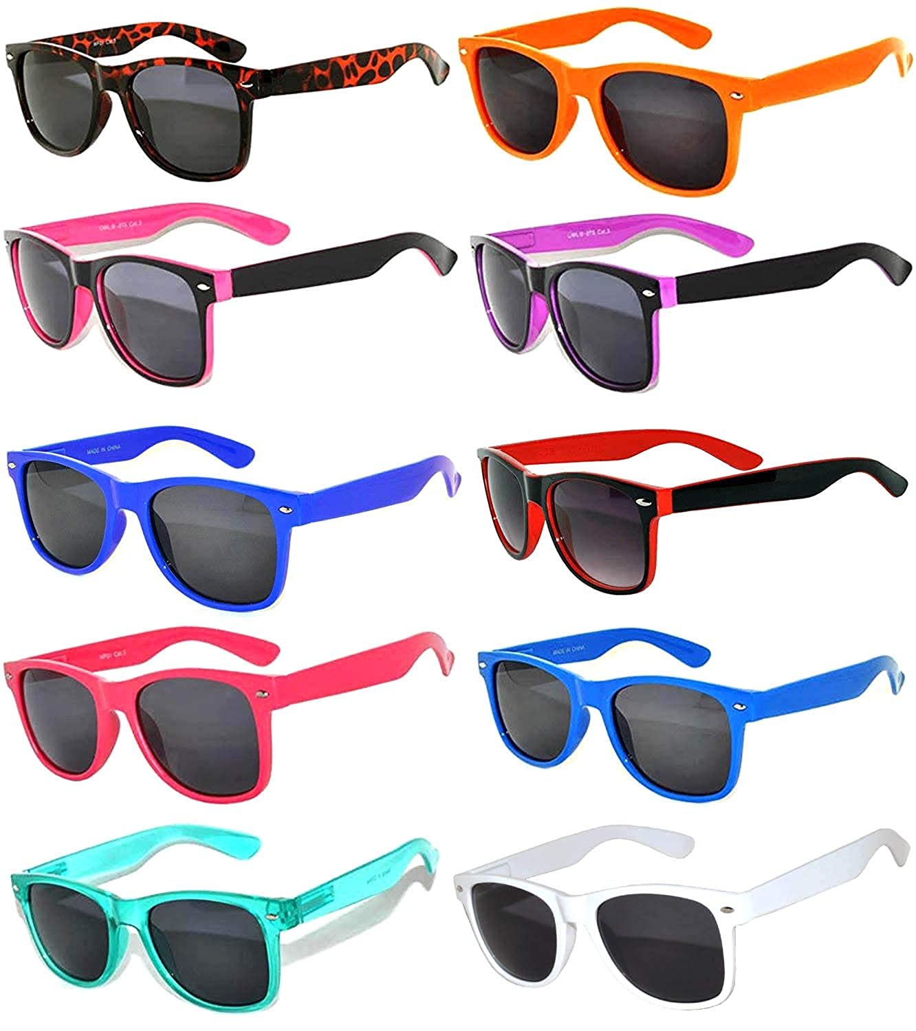9d4a847787d Amazon.com  Wholesale of 12 Pack Mixed colored Frame Vintage Smoke Lens  Eyeglasses OWL  Clothing