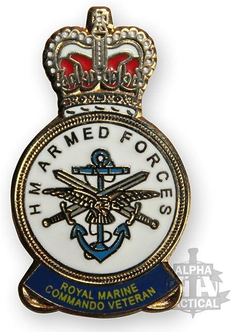 HM Armed Forces Royal Marines Commando Veteran lapel pin badge .