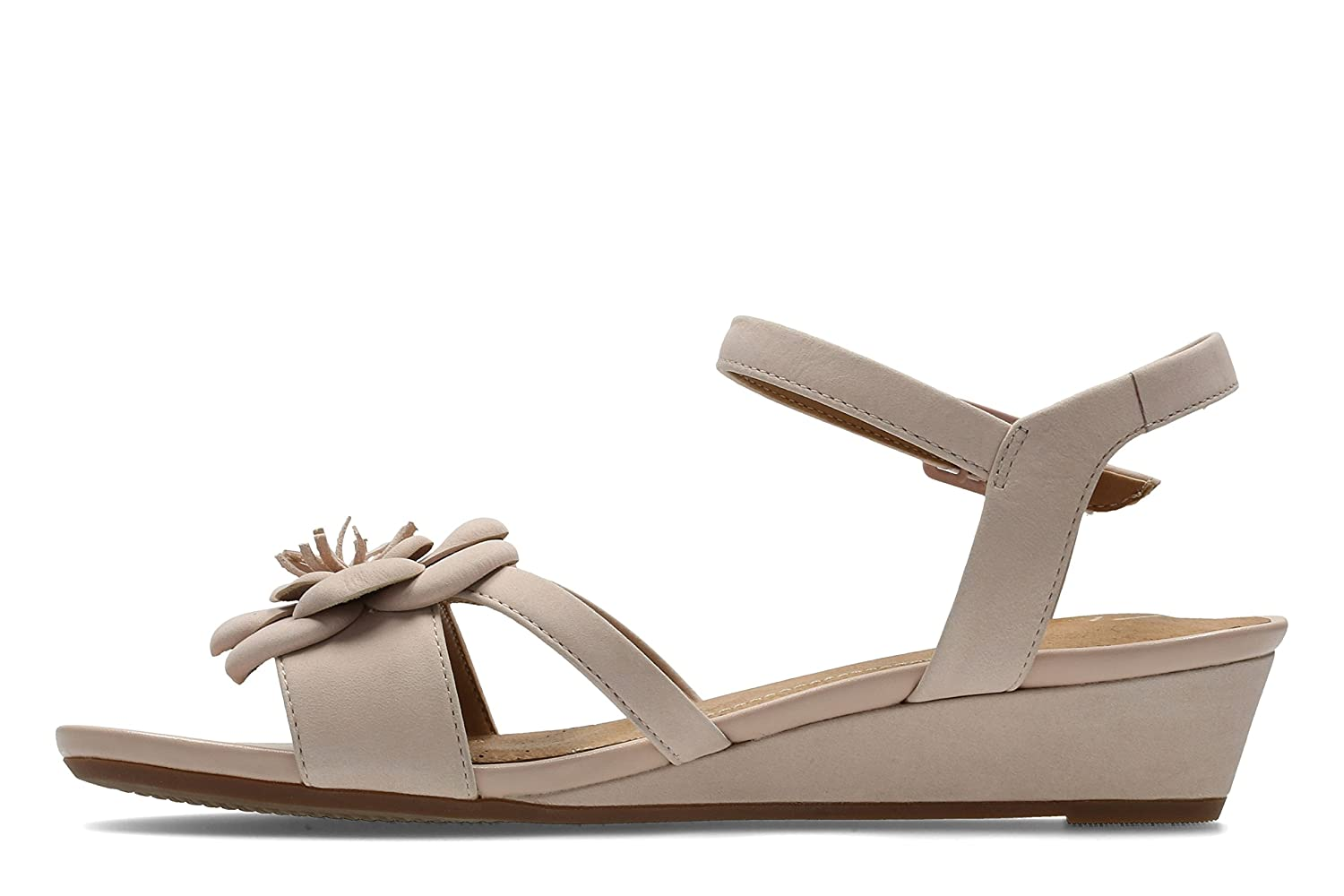 c846df33250 Clarks Parram Stella Nubuck Sandals in Dusty Pink  Amazon.co.uk  Shoes    Bags