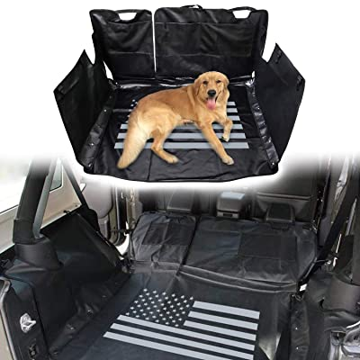 Car Dog Pet Seat Cover Hammock Waterproof for Jeep Wrangler JK JKU 2007-2020 (US flag): Automotive