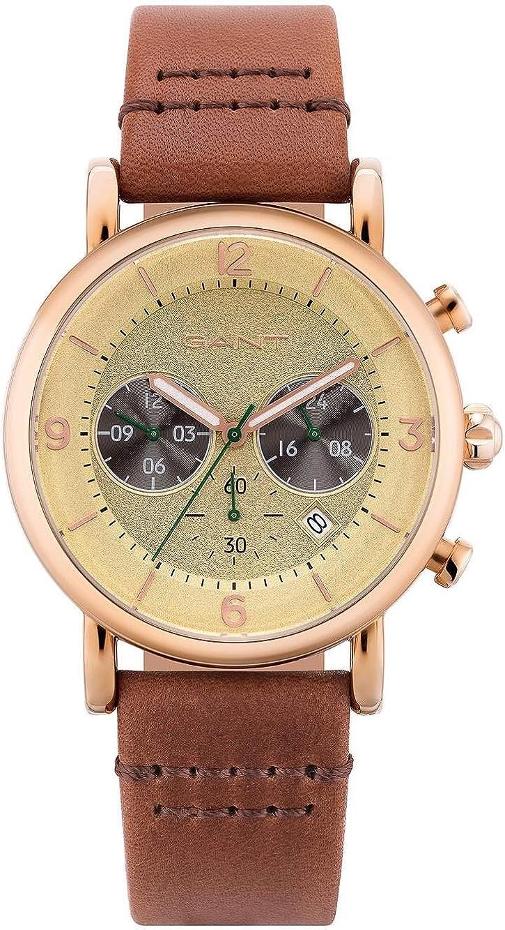 Reloj GANT para Hombre con Pulsera de Caucho Dorado