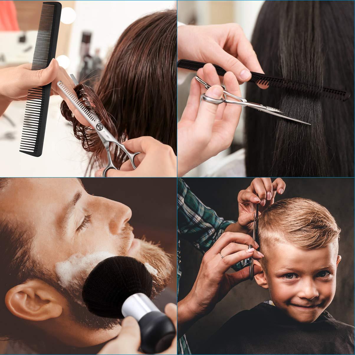 Hair Cutting Scissors Set 6.7 Inch, 9 Pcs Stainless Steel Hair Cutting Shears Hairdressing Scissors Professional Hair Shear Kit