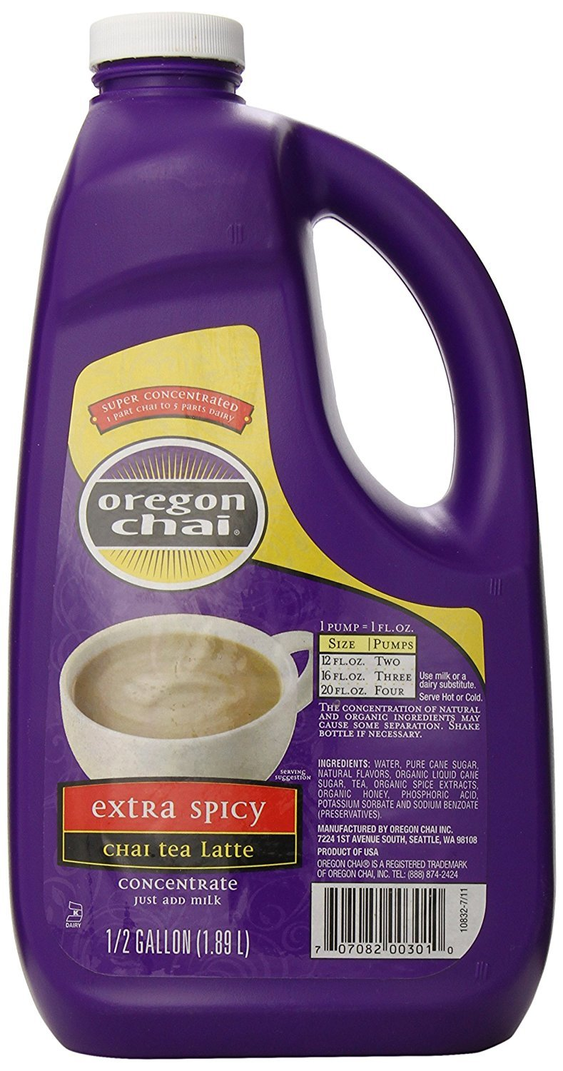 O Chai XSpicy Sup Conc. 0.5Gal - Single Bottle by Oregon Chai