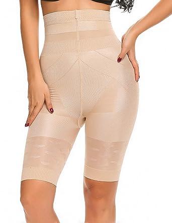 c345dd22015 IN VOLAND Women s Hi-Waist Breathable Slimming Shapewear Comfort Thigh  Slimmer Beige