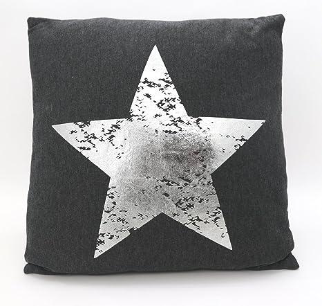 Fashion&Joy Decoración Cojín Metallic Estrella con Relleno y ...