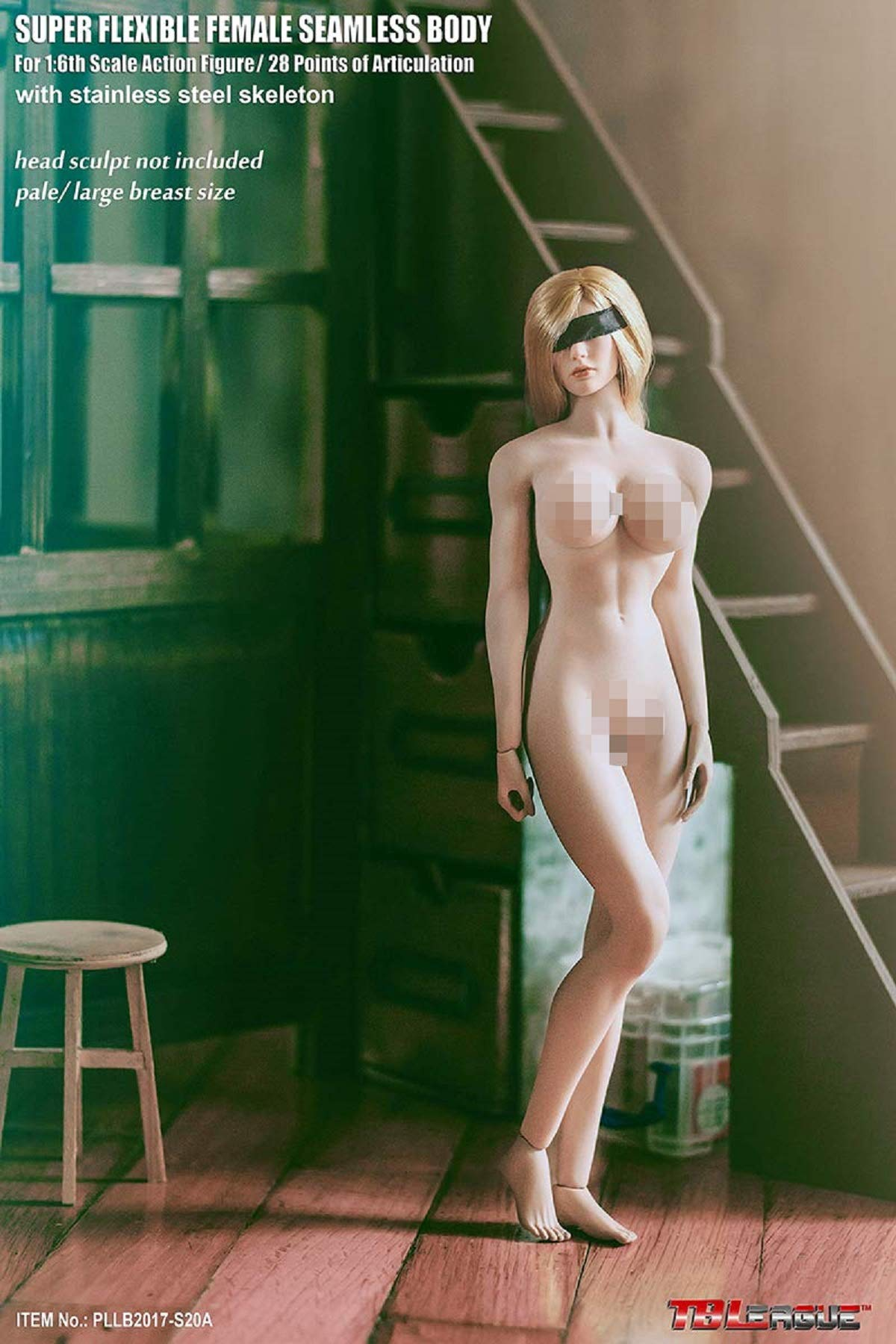 OBEST 1/6 Female Super Flexible Seamless Body Pale Action Figure (S20A)