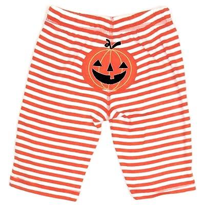 'Pumpkin' Stripe Leggings Pants, Unisex