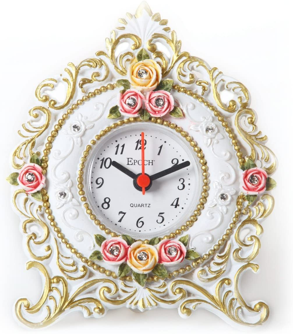 Maples FL92 Floral Table Clock