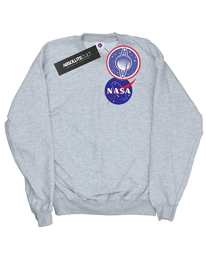 NASA Damen Classic Insignia Pocket Logo Sweatshirt: Amazon.de: Bekleidung