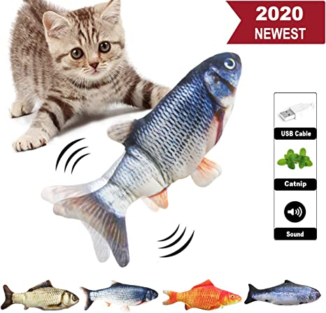 3 Pack Realistic Interactive Fish Cat Kicker Funny Toy Catnip Pet Toys Gift