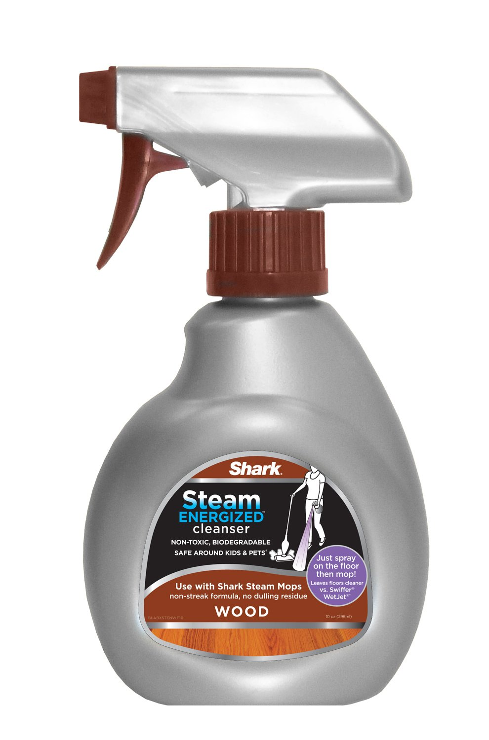 Shark Steam Energized Cleanser Spray Floor Cleaner for Use on Wood Floors with Steam Mops (RSW100)